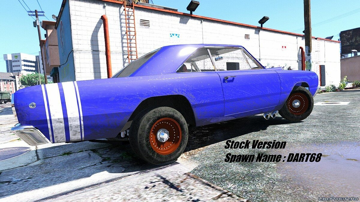 1968 Dodge Dart HEMI Super Stock [Add-On / Replace | Animated] 1.1 для GTA 5 - скриншот #3
