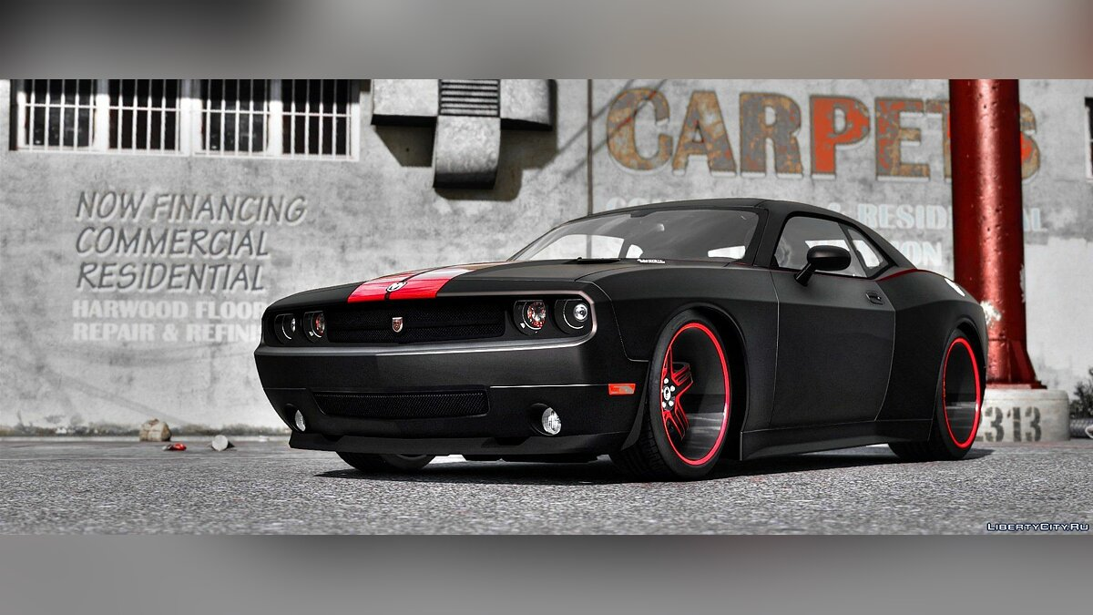 2010 Dodge Challenger SRT8 (Rampage Edition) [Add-On / Replace | Template] 1.3 для GTA 5 - скриншот #3
