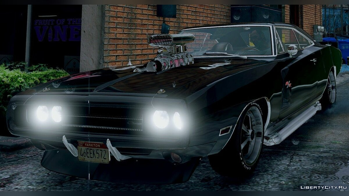 1970 Dodge Charger R/T [Fully Tunable] 4.0 для GTA 5 - скриншот #3