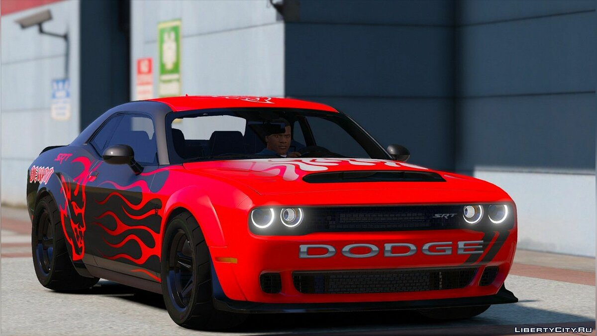 Dodge Challenger Demon SRT 2018 [Add-On | Replace | Analog-Digital Dials | Animated] 2.0 для GTA 5 - скриншот #2