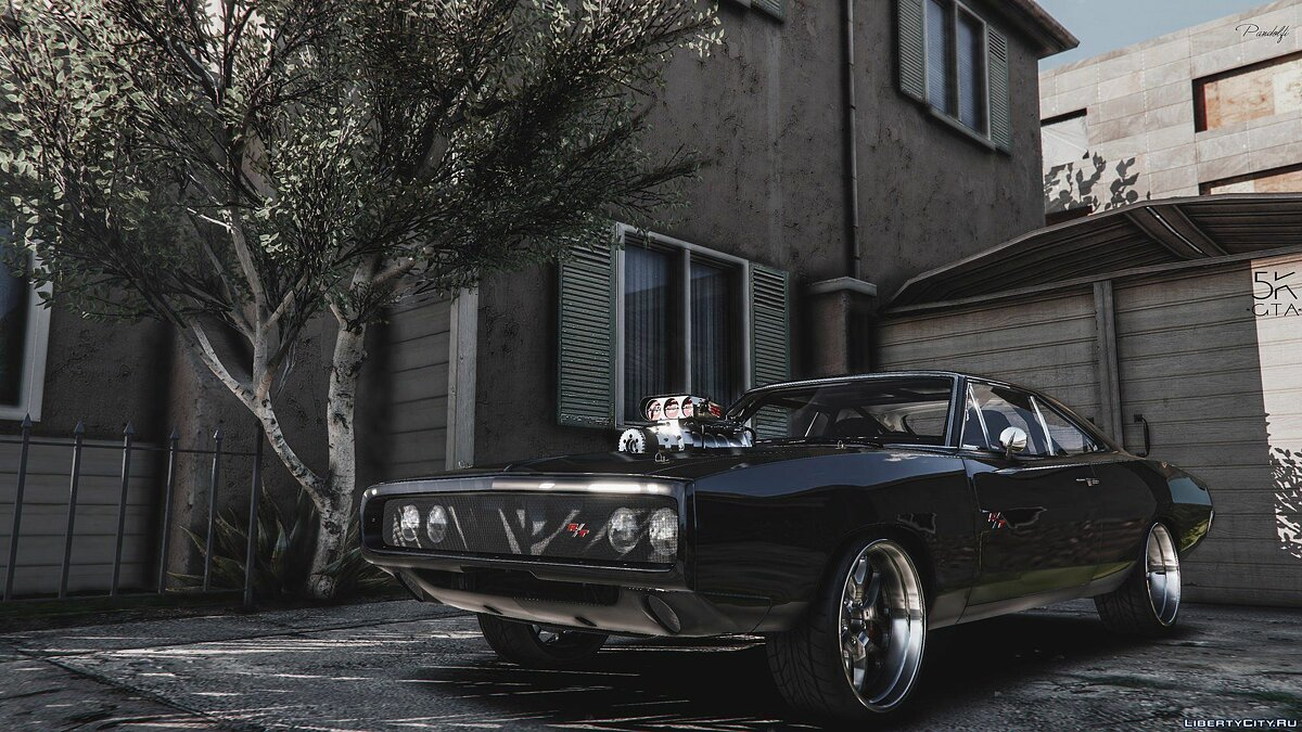 Dom's 1970 Dodge Charger (Furious 7) [Working Blower | Add-On | LODs] 1.1 для GTA 5 - скриншот #2