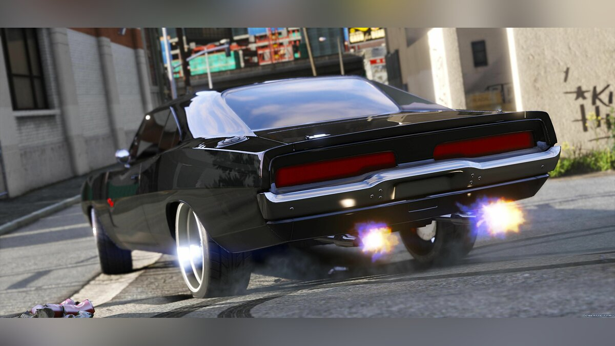 Dom's 1970 Dodge Charger (Furious 7) [Working Blower | Add-On | LODs] 1.1 для GTA 5 - скриншот #3
