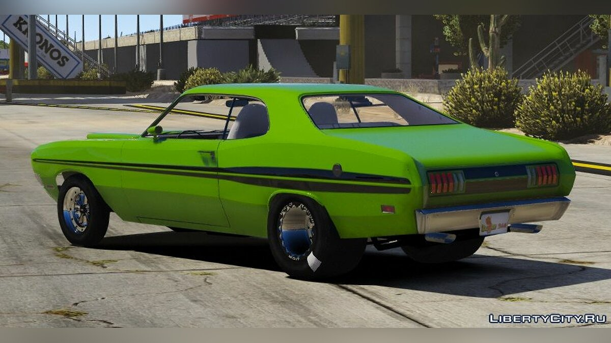 Машина Dodge 1971 Dodge Dart Demon Drag Version |FIVEM|REPLACE 1.0 для GTA 5