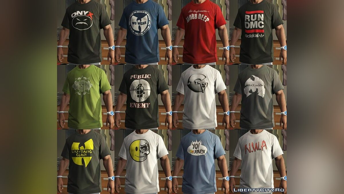 Franklin - Shirts Pack - RAP для GTA 5