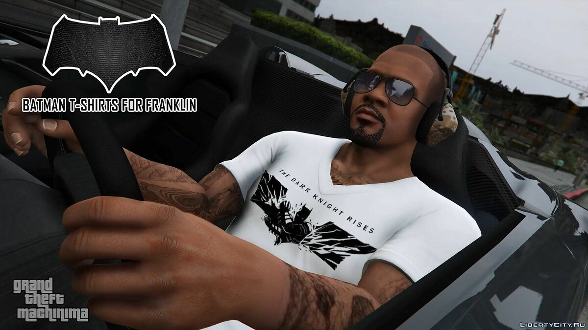 Batman T-Shirts Pack for Franklin для GTA 5