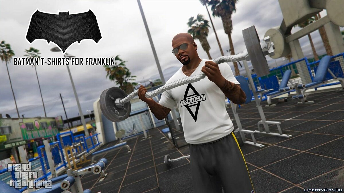 Batman T-Shirts Pack for Franklin для GTA 5 - скриншот #4