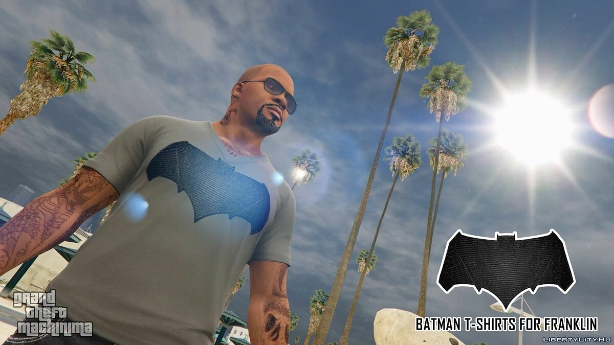 Batman T-Shirts Pack for Franklin для GTA 5 - скриншот #2