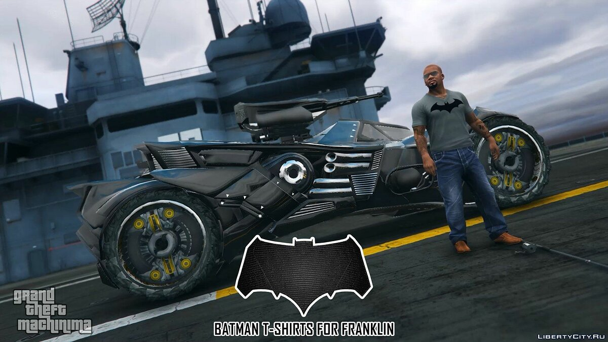 Batman T-Shirts Pack for Franklin для GTA 5 - скриншот #5