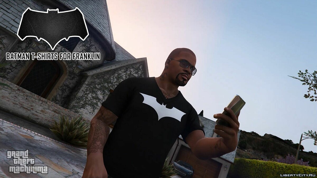 Batman T-Shirts Pack for Franklin для GTA 5 - скриншот #3
