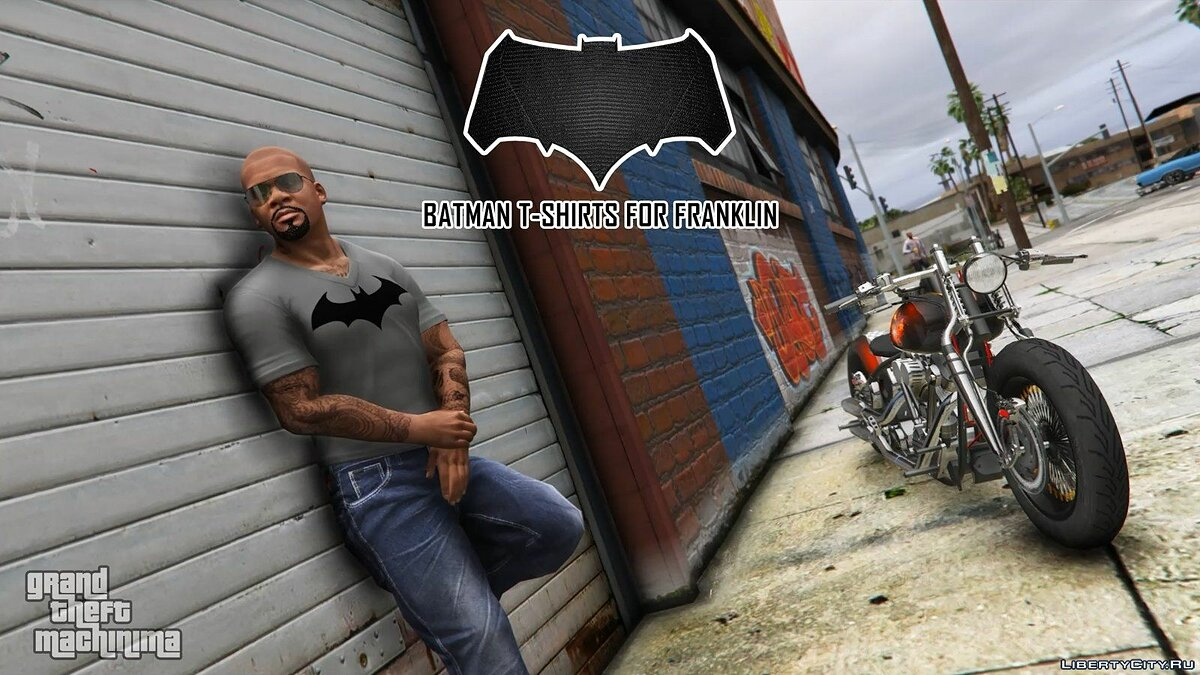 Batman T-Shirts Pack for Franklin для GTA 5 - скриншот #10