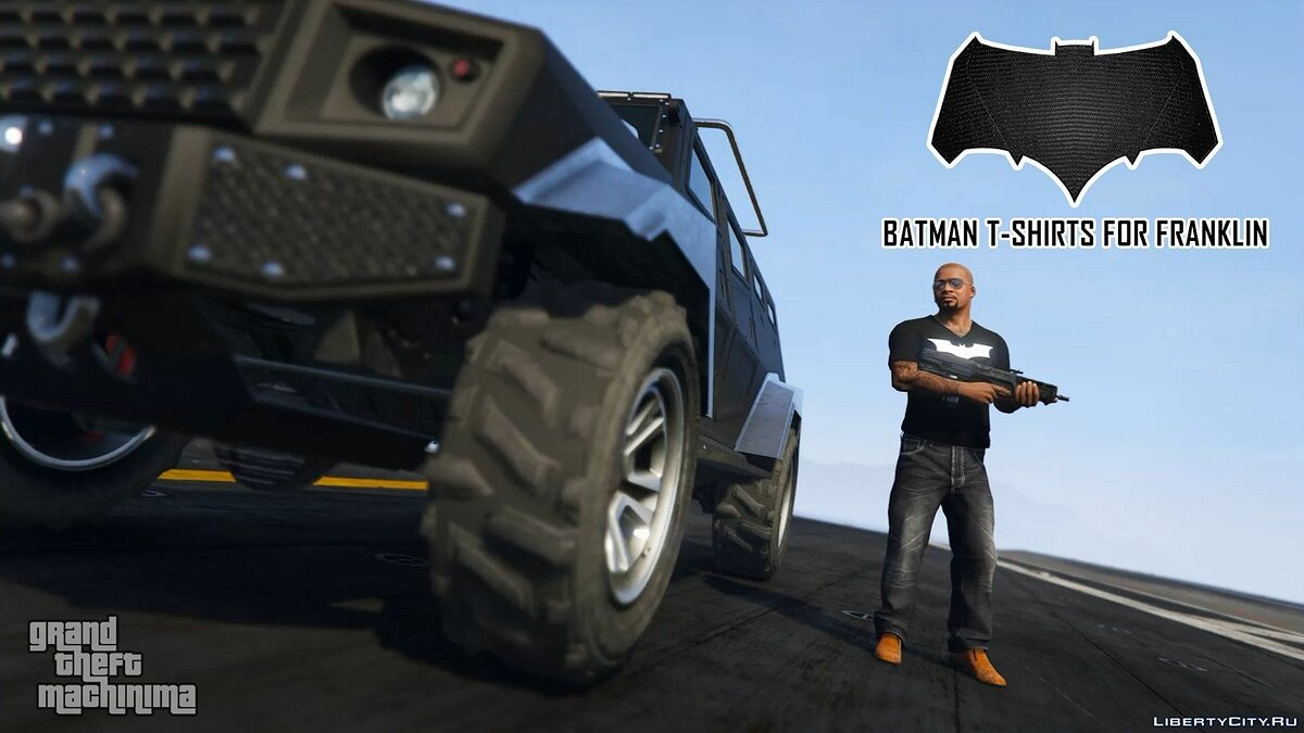 Batman T-Shirts Pack for Franklin для GTA 5 - скриншот #8