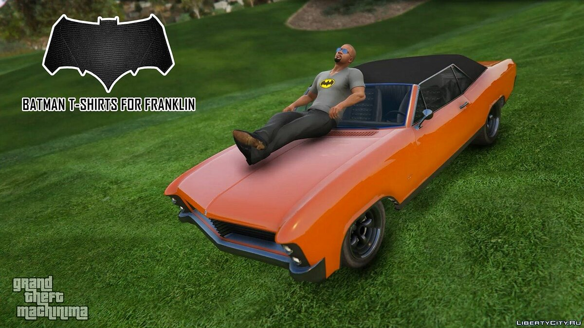Batman T-Shirts Pack for Franklin для GTA 5 - скриншот #7
