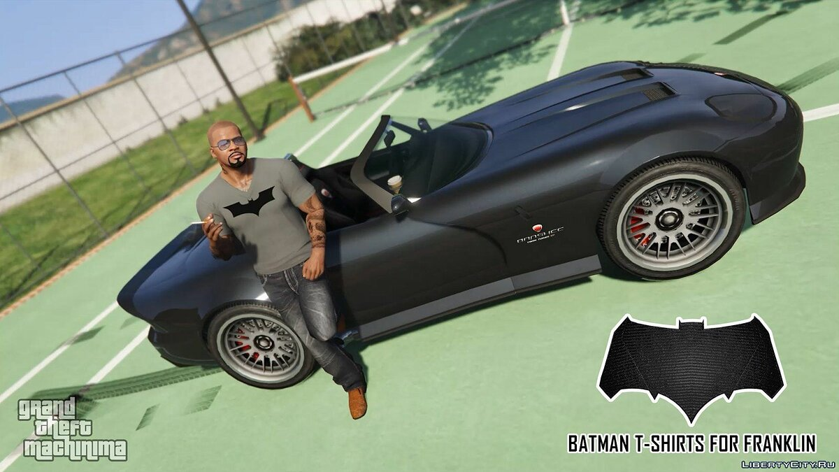 Batman T-Shirts Pack for Franklin для GTA 5 - скриншот #6