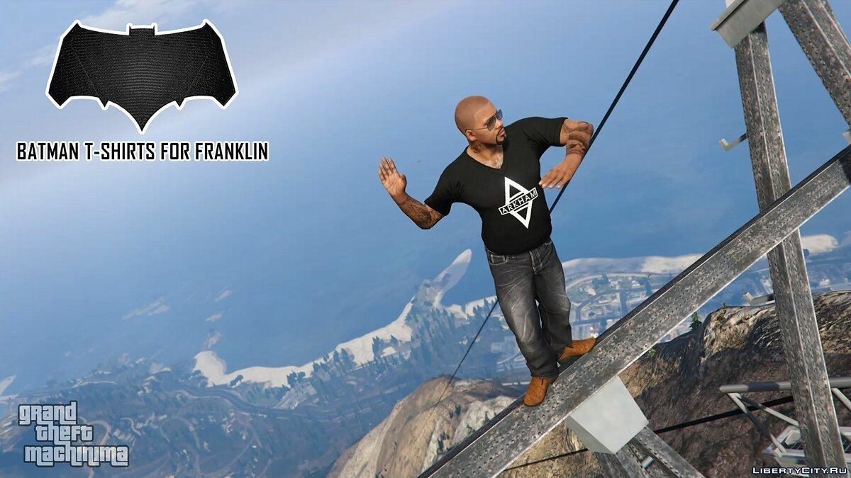 Batman T-Shirts Pack for Franklin для GTA 5 - скриншот #9