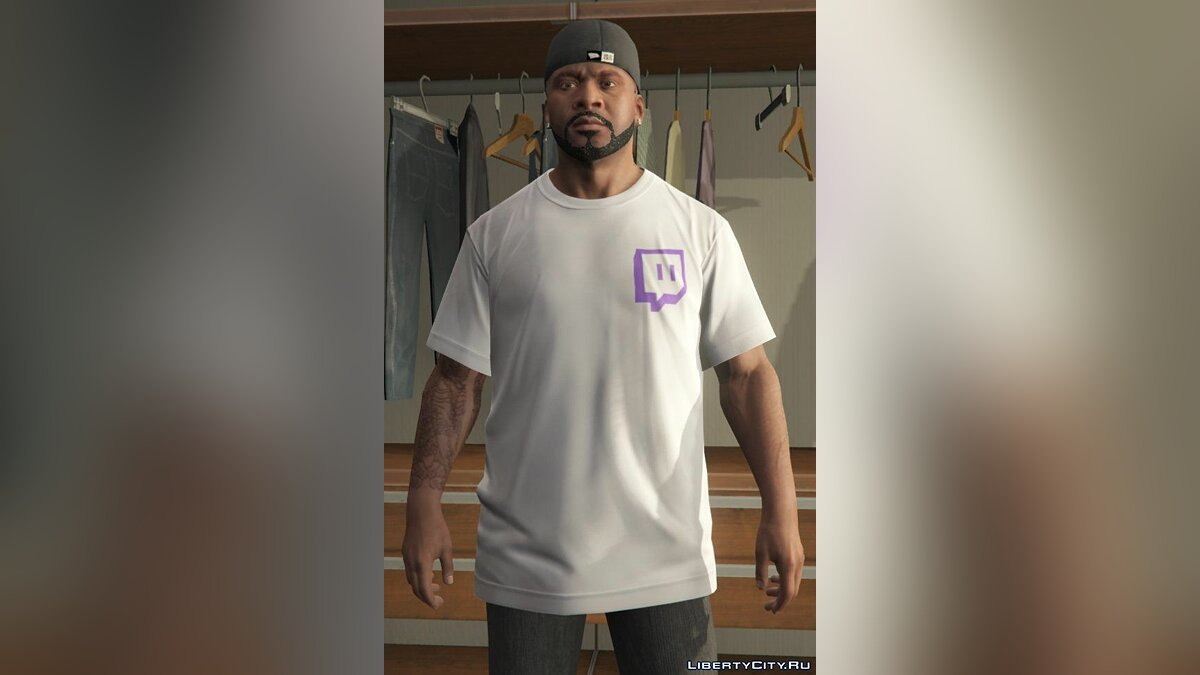 Twitch.tv T-Shirt Set 1.0 для GTA 5 - скриншот #2