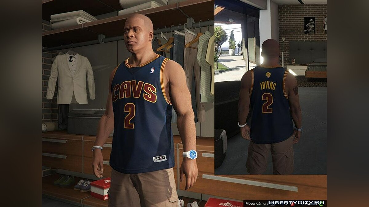 Franklin Shirts pack NBA 2015 The Finals для GTA 5 - скриншот #2