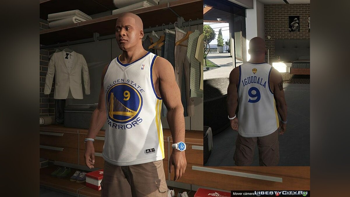 Franklin Shirts pack NBA 2015 The Finals для GTA 5 - скриншот #3