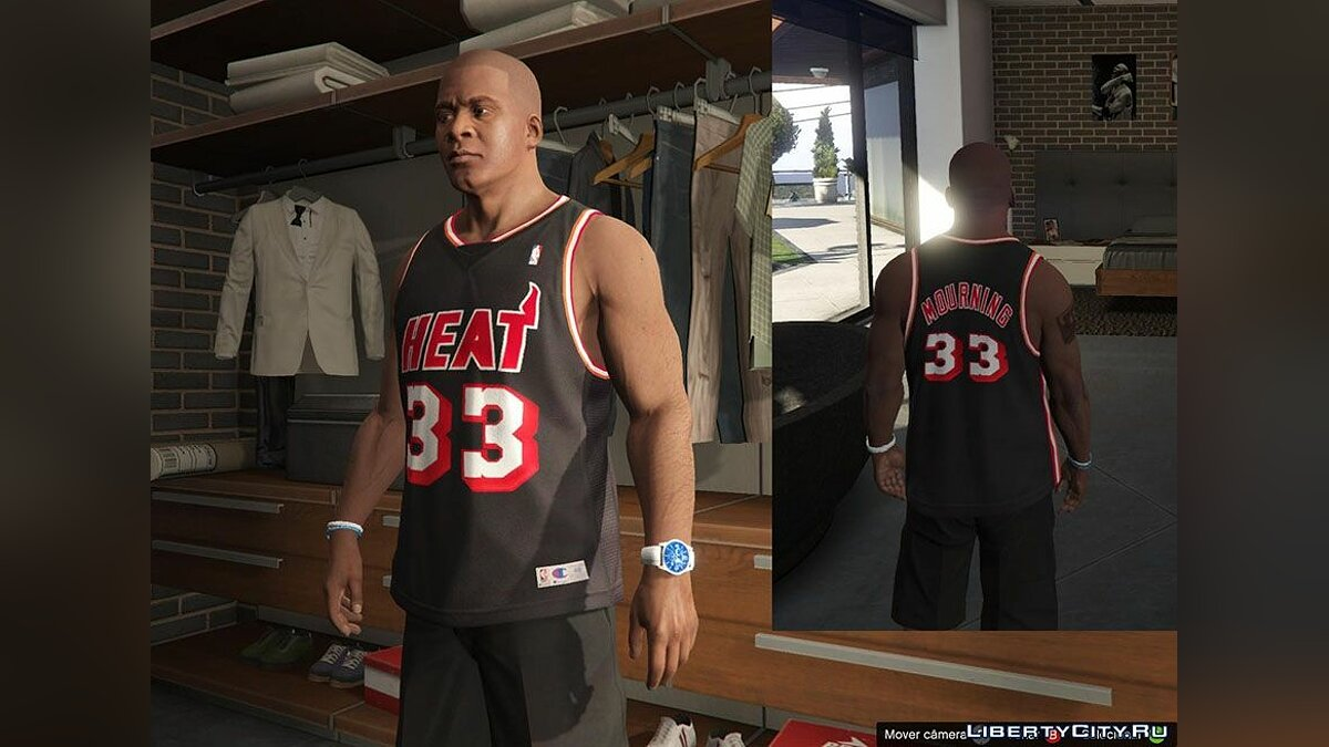 Franklin Shirts Pack NBA Oldies для GTA 5 - скриншот #2
