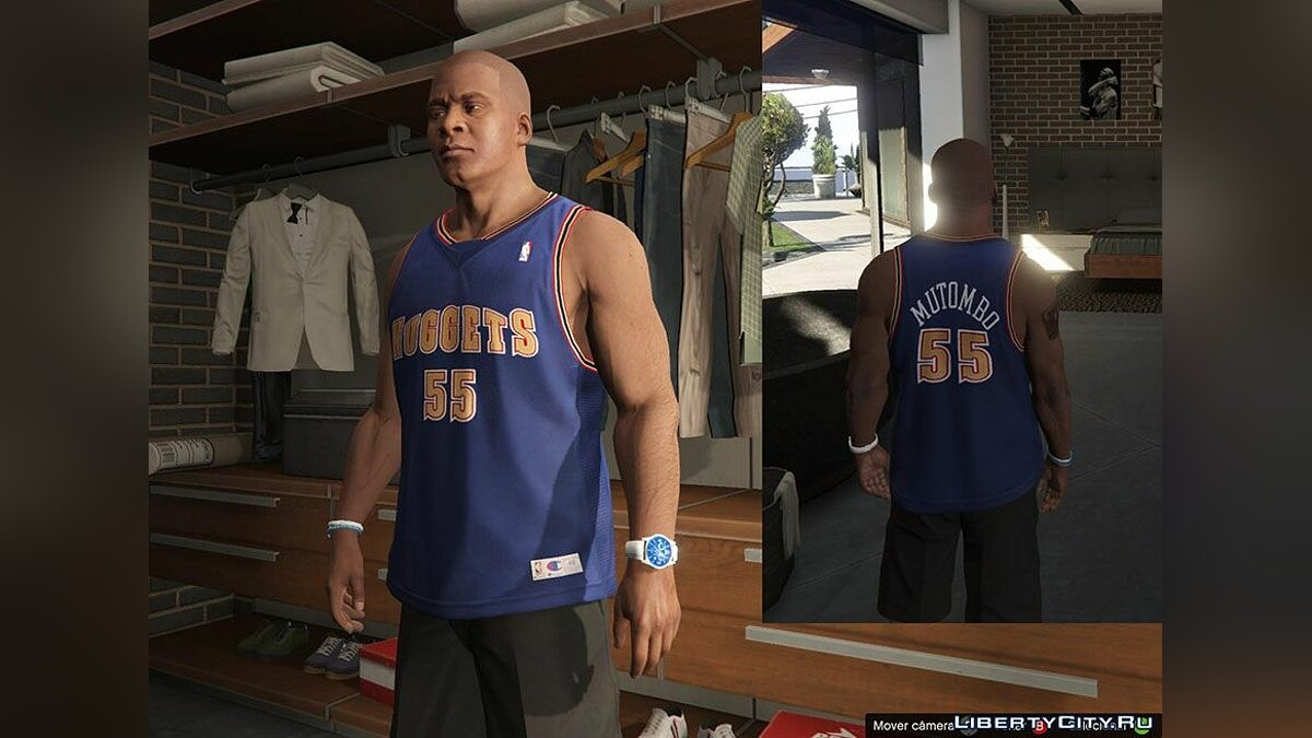 Franklin Shirts Pack NBA Oldies для GTA 5 - скриншот #3