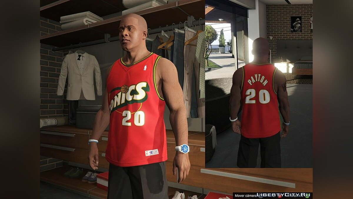 Franklin Shirts Pack NBA Oldies для GTA 5 - скриншот #4