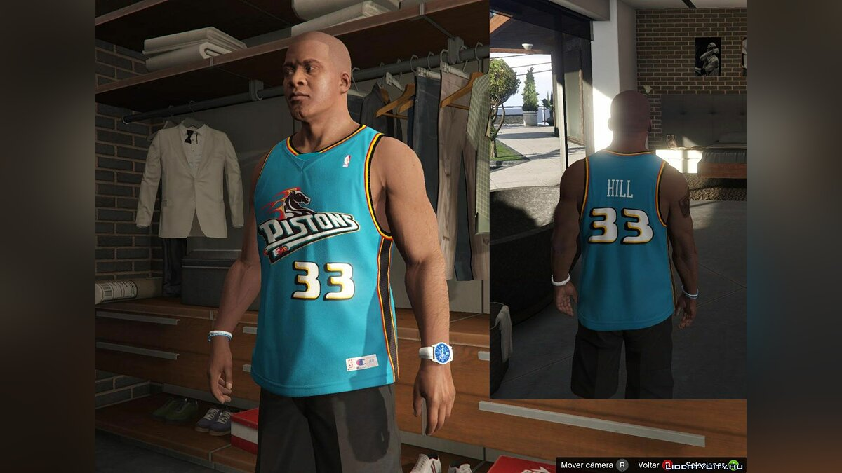 Franklin Shirts Pack NBA Oldies для GTA 5 - скриншот #5