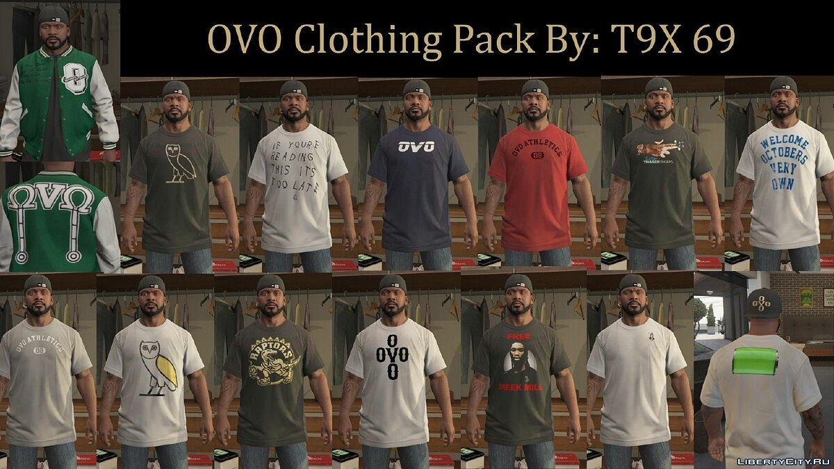 OVO Clothing Pack 1.0 для GTA 5