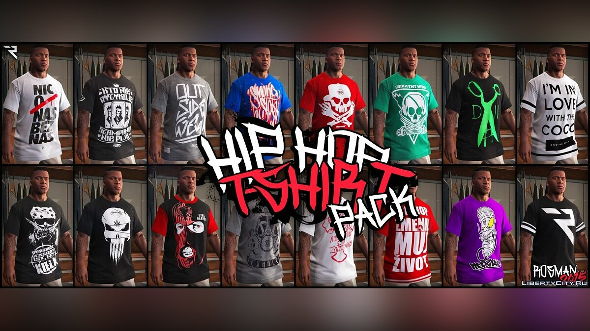 Hip Hop T-Shirt Pack для GTA 5