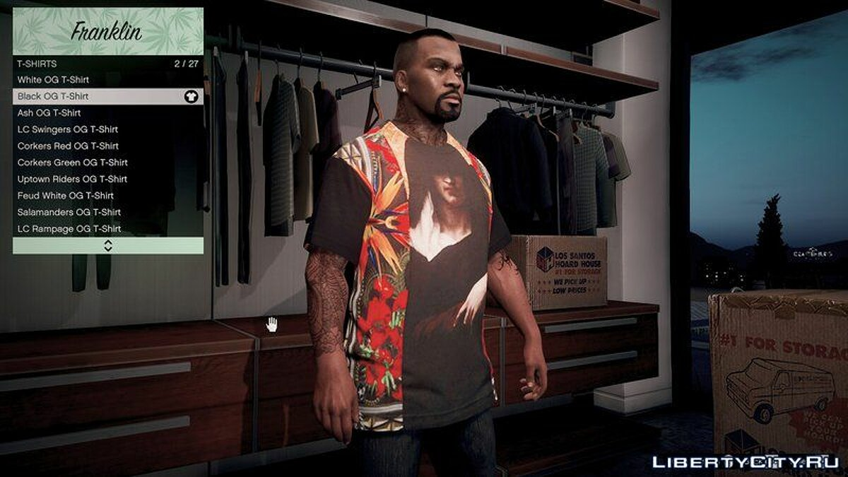 Givenchy T-Shirt Pack V1.0 для GTA 5 - скриншот #3