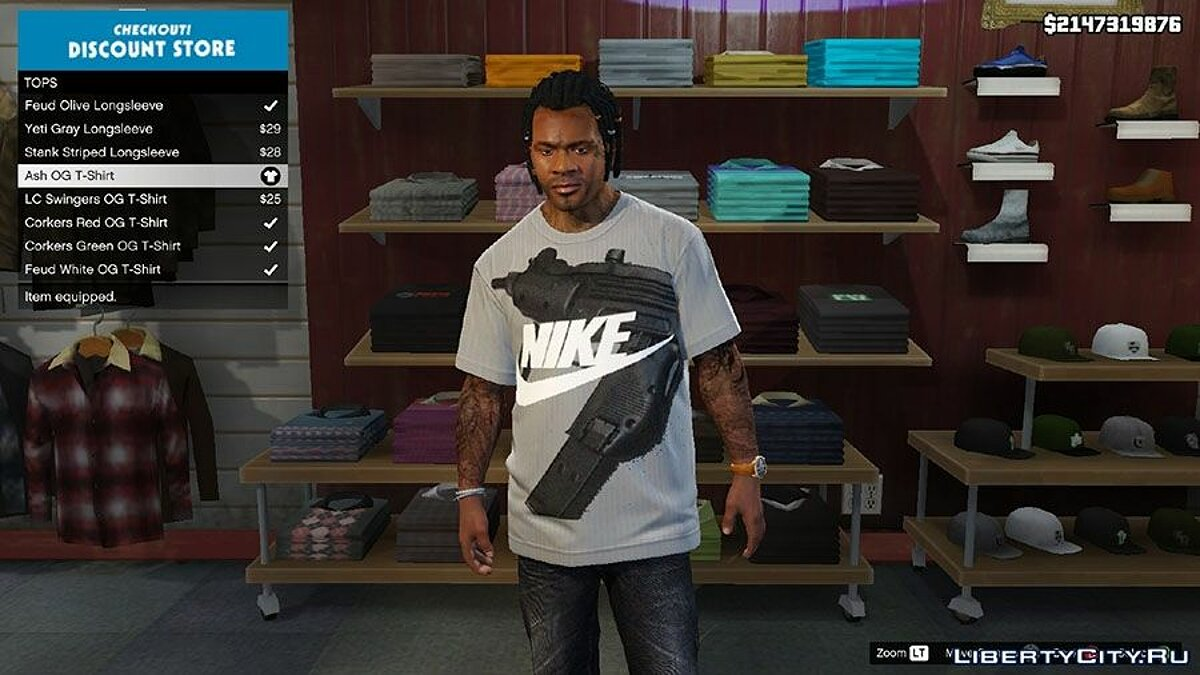 Modern Day Swag for Franklin Shirt Pack для GTA 5 - скриншот #3