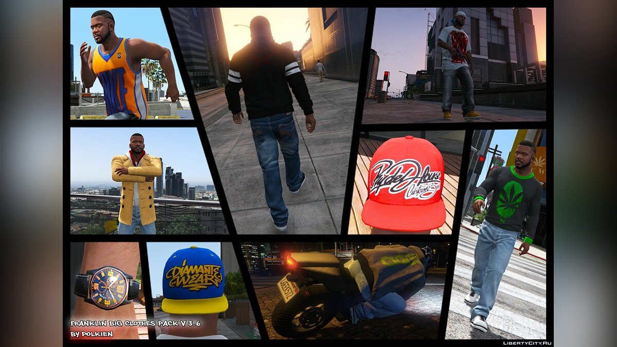 Franklin BIG Clothes Pack 3.6 для GTA 5