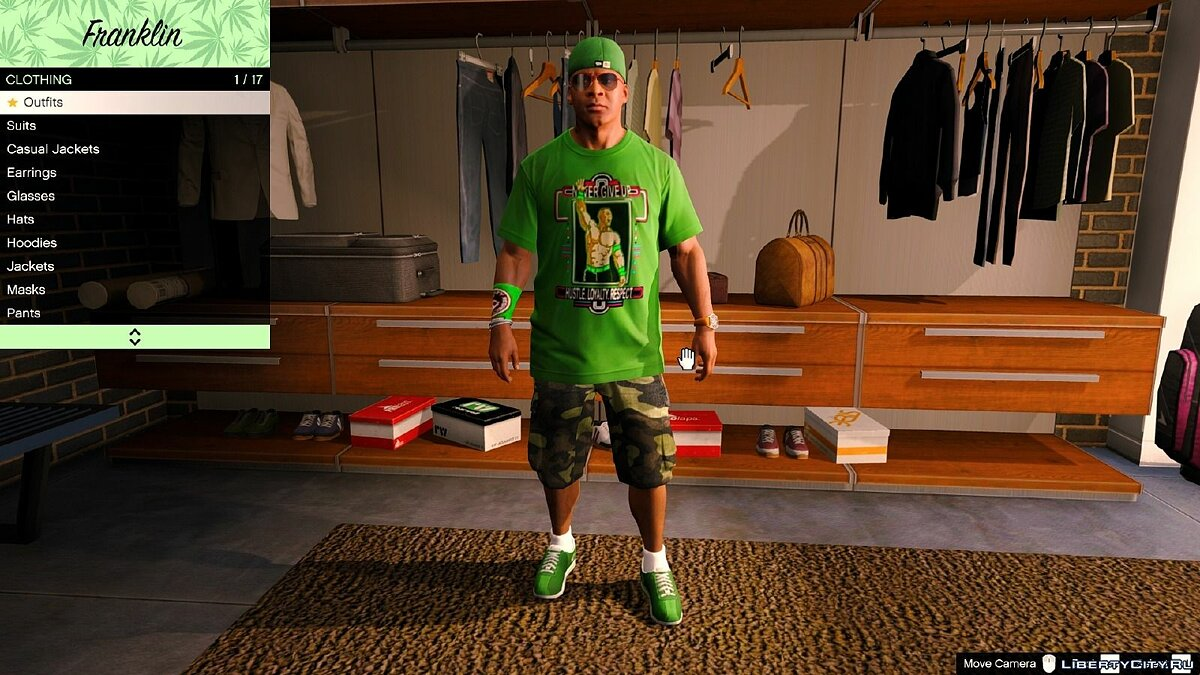 ��утболка и кофта Футболка Джон Сина / John Cena T-Shirt for Franklin для GTA 5