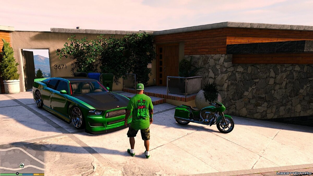 Футболка и кофта Футболка Джон Сина  / John Cena T-Shirt for Franklin для GTA 5