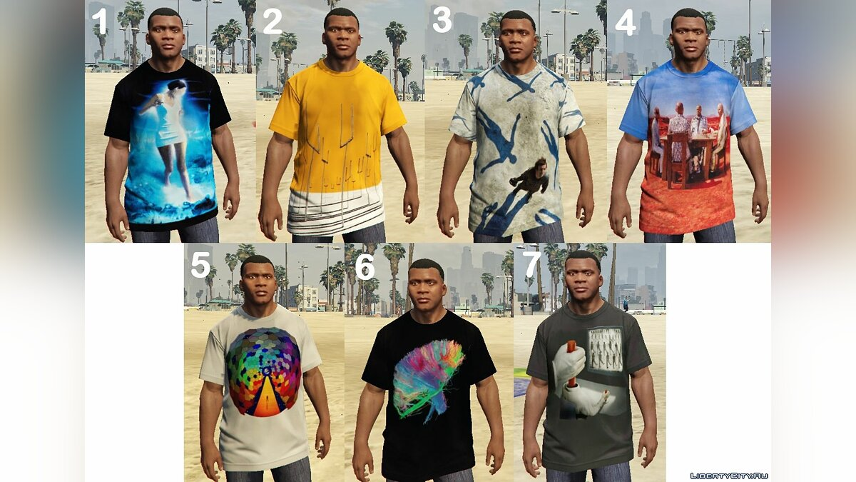 Muse T-Shirt Pack для GTA 5 - Картинка #1