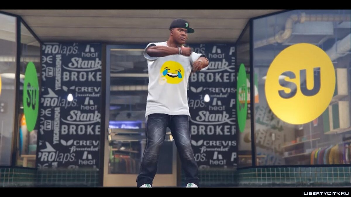 Hahahaha truu t-shirt for Franklin для GTA 5 - скриншот #3