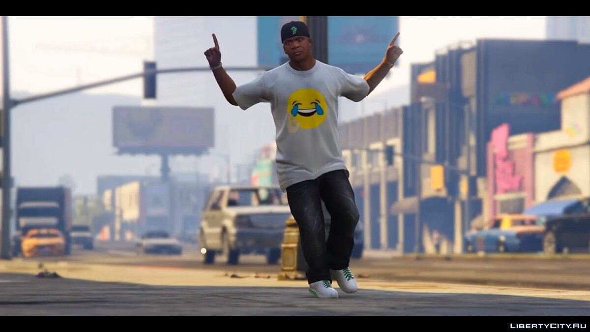 Hahahaha truu t-shirt for Franklin для GTA 5 - скриншот #6