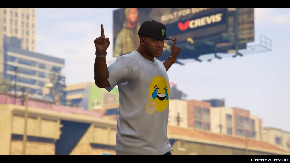 Hahahaha truu t-shirt for Franklin для GTA 5 - скриншот #5