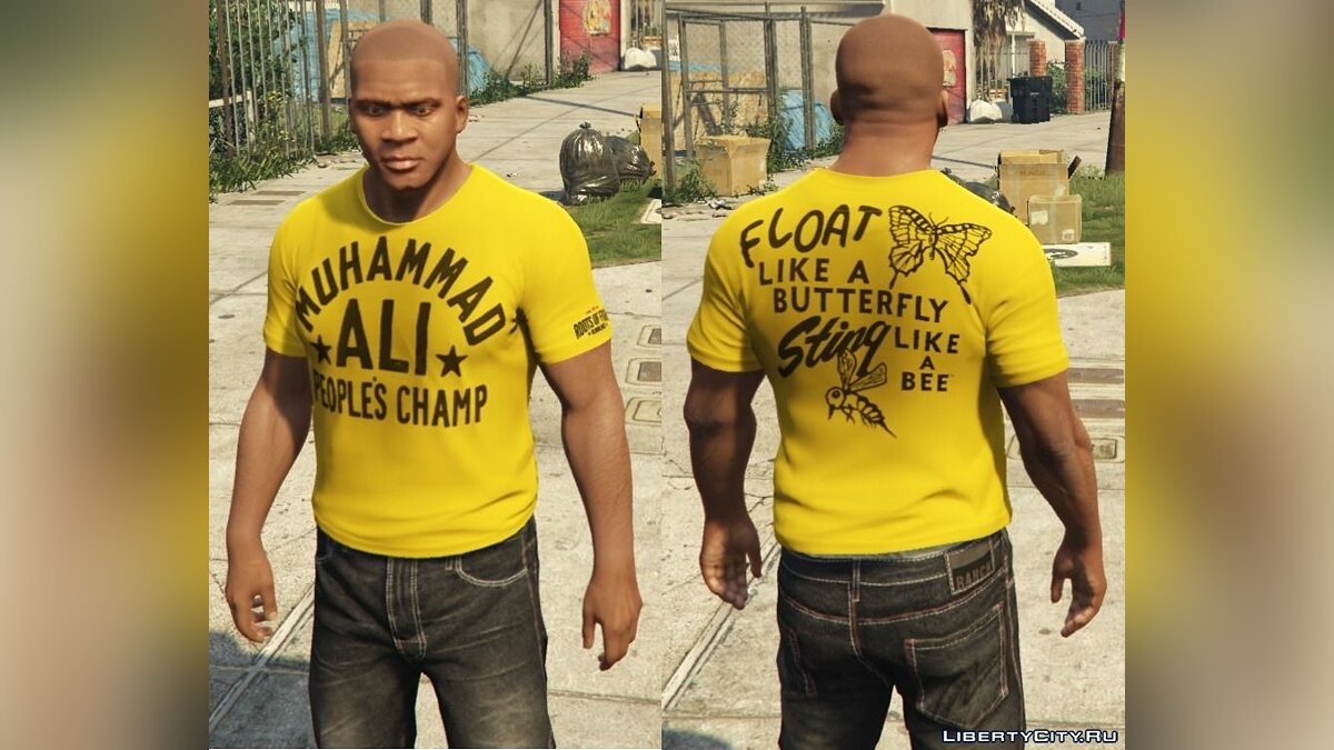 Franklin - Roots Of Fight T-Shirt Pack для GTA 5 - Картинка #5