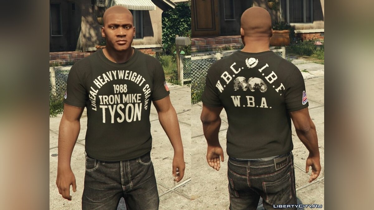 Franklin - Roots Of Fight T-Shirt Pack для GTA 5 - Картинка #7
