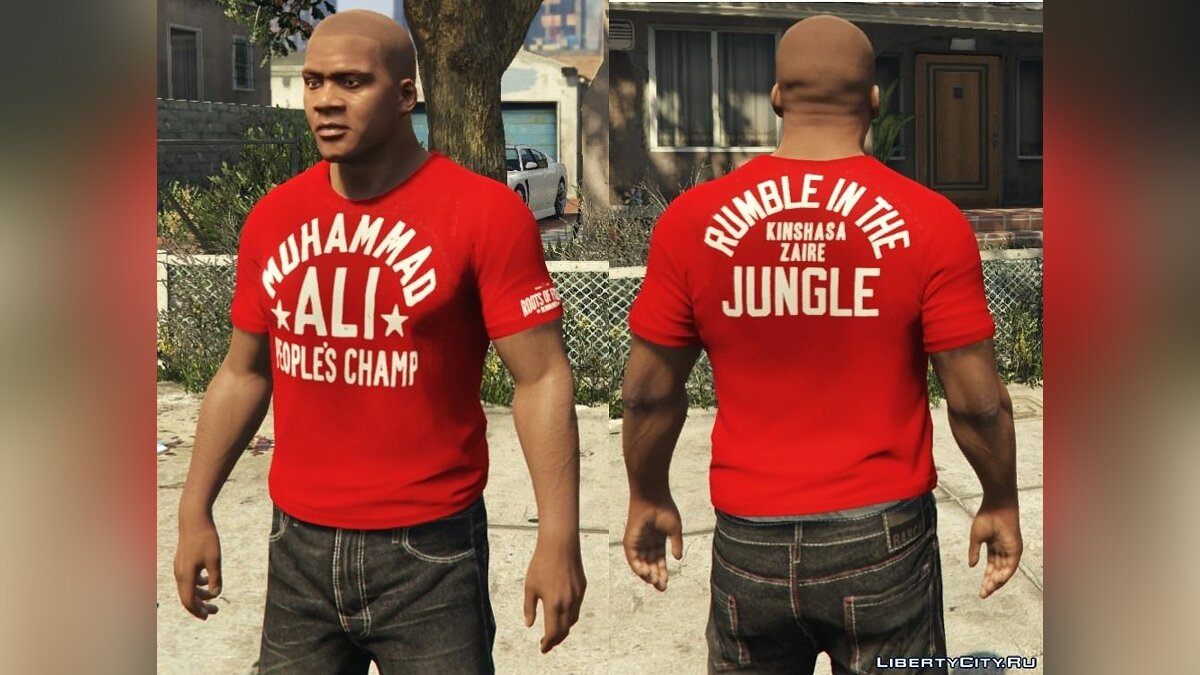 Franklin - Roots Of Fight T-Shirt Pack для GTA 5 - Картинка #9
