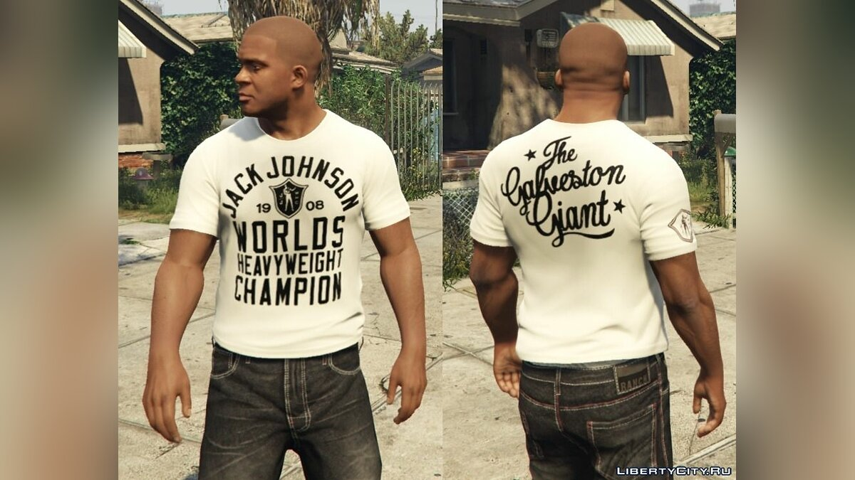 Franklin - Roots Of Fight T-Shirt Pack для GTA 5 - Картинка #10