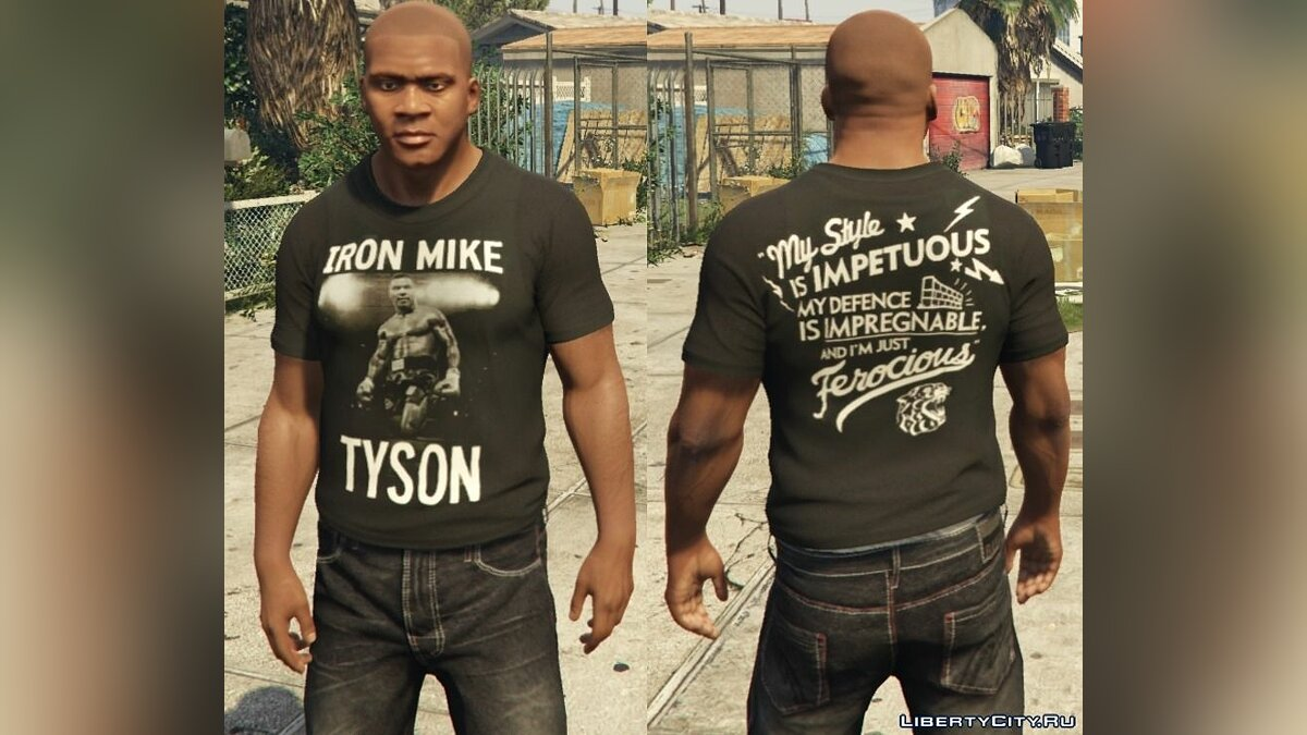 Franklin - Roots Of Fight T-Shirt Pack для GTA 5