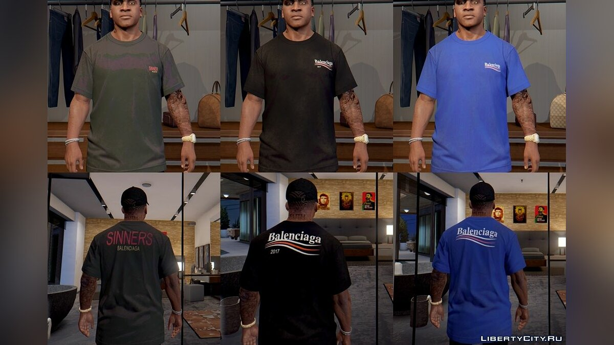 Футболка и кофта HQ) Luxury T-Shirt Packs 3.0 для GTA 5