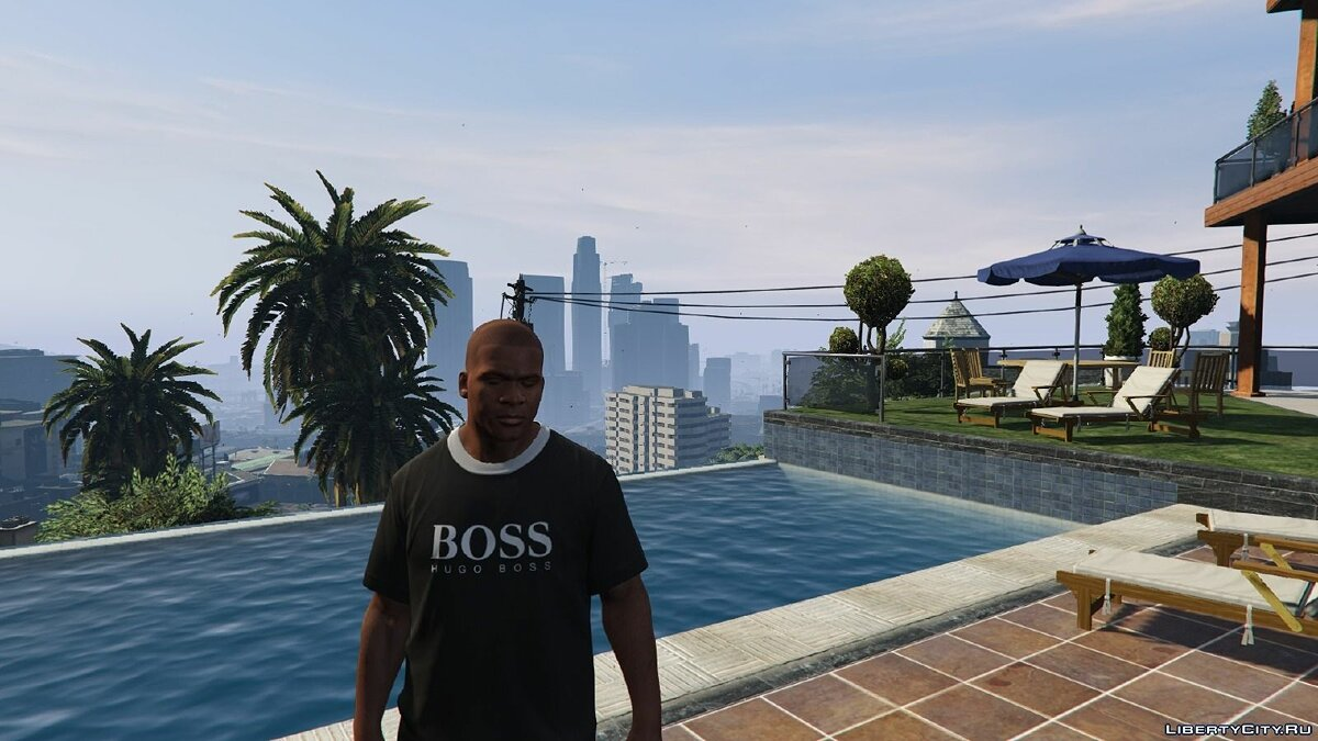 Hugo Boss T-shirt for Franklin для GTA 5