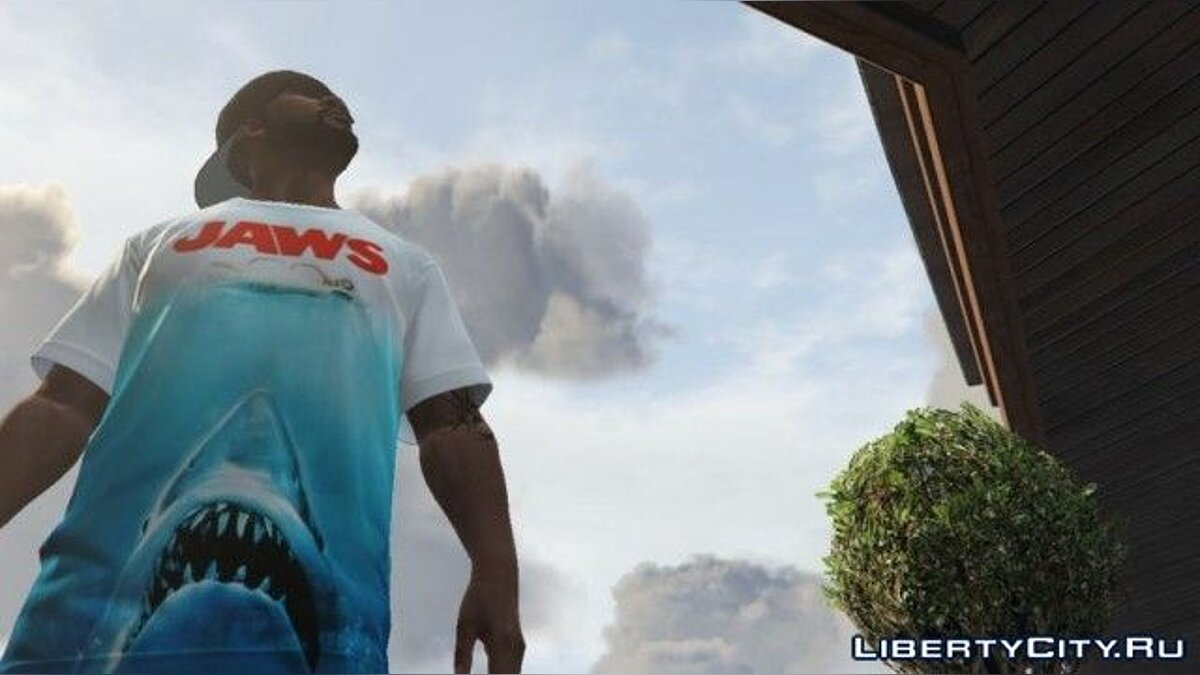 Jaws T-shirt for Franklin для GTA 5