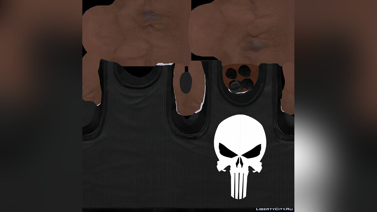 The Punisher Shirt for Franklin для GTA 5 - скриншот #2
