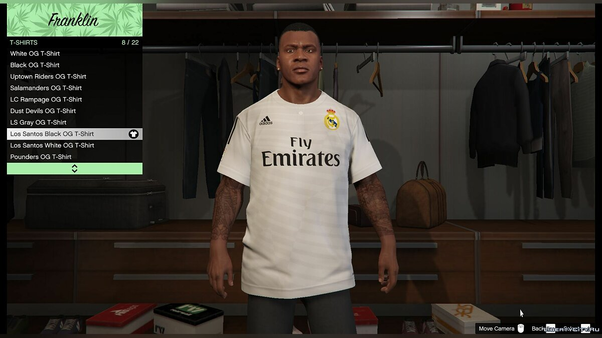 Футболка Real Madrid для Франклина для GTA 5