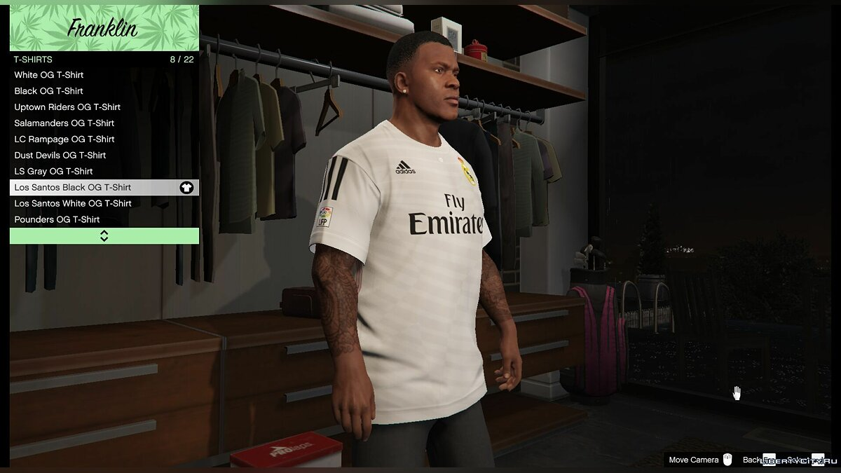 Футболка Real Madrid для Франклина для GTA 5 - скриншот #2