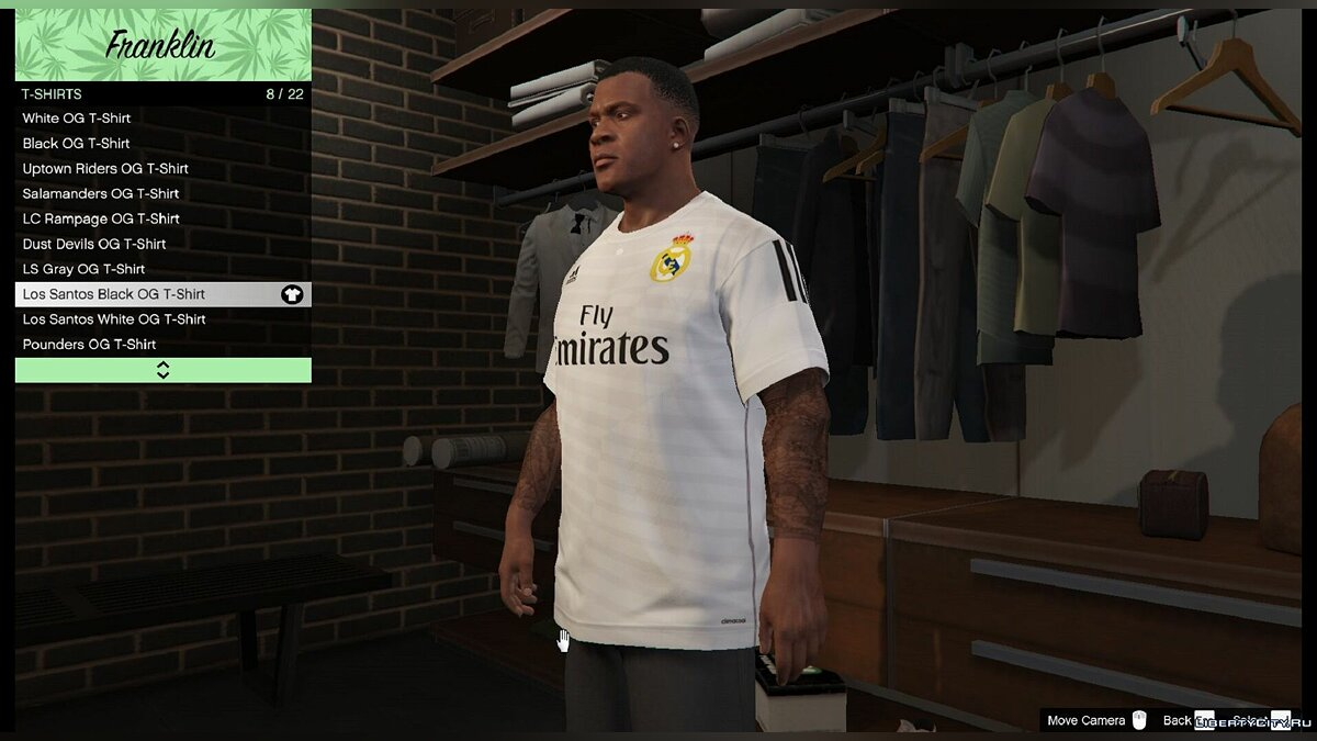Футболка Real Madrid для Франклина для GTA 5 - скриншот #3