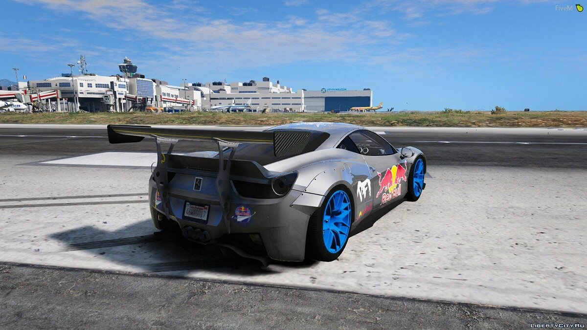 Машина Ferrari Drift Ferrari 458 Liberty Walk для GTA 5