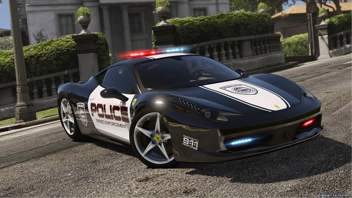 Ferrari 458 Italia | Hot Pursuit Police | AUTOVISTA [Add-On / Replace | Template] для GTA 5 - скриншот #4